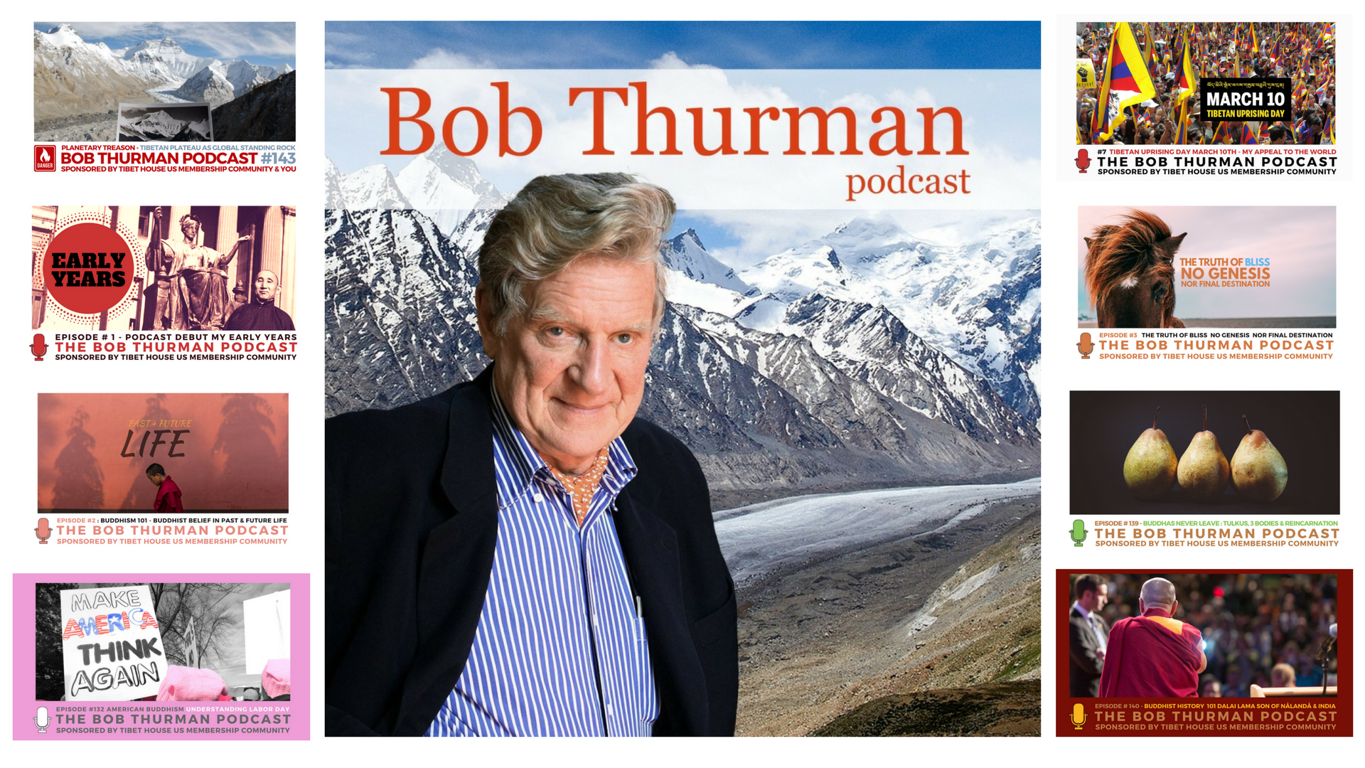Bob Thurman Podcast Graphic