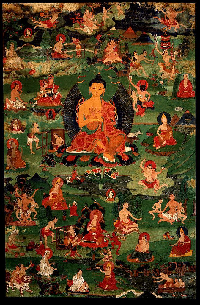 Nagarjuna with 84 Mahasiddha