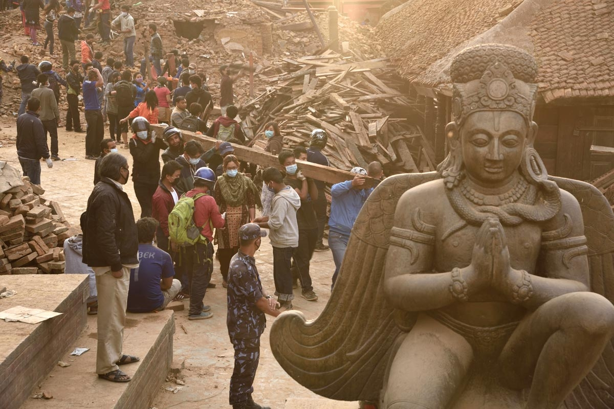 Talking to Those Who Depart Through Death Photo of Nepal Earthquake via www.geographical.co.uk.
