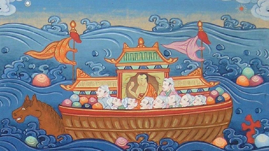 Two Kinds of Bodhichitta : Shantideva - Episode 47 of the Bob Thurman Podcast Image via www.himalayanart.org.