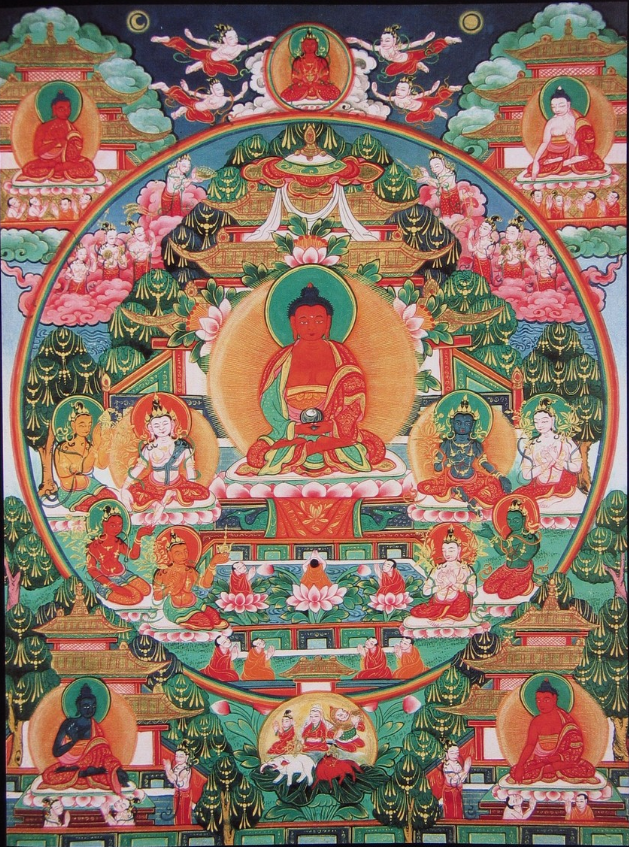 The Pureland and Lotus Sutras - Ep 52 of the Bob Thurman Amitabha/Amitayus Buddha - Pureland (Sukhavati) Image via www.himalayanart.org.