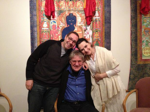 "bob frank lipman sharon gannon photo from ""Why Be Mindful"" Episode 54 of the Bob Thurman podcast"