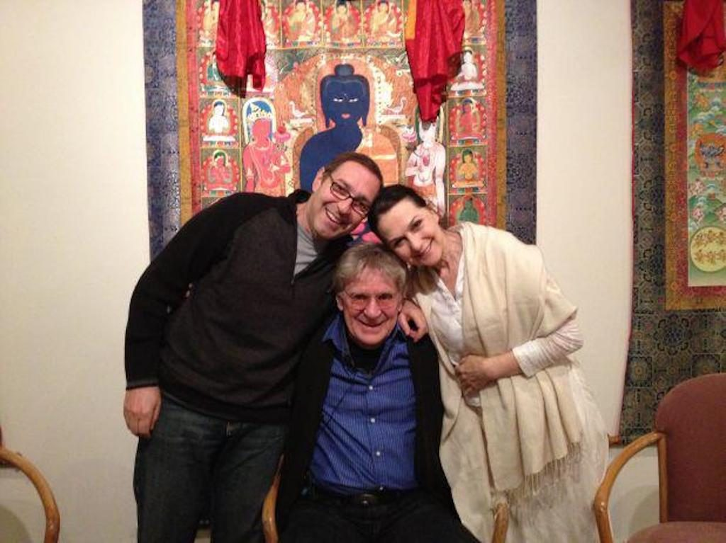 """bob frank lipman sharon gannon photo from """"Why Be Mindful"""" Episode 54 of the Bob Thurman podcast"""