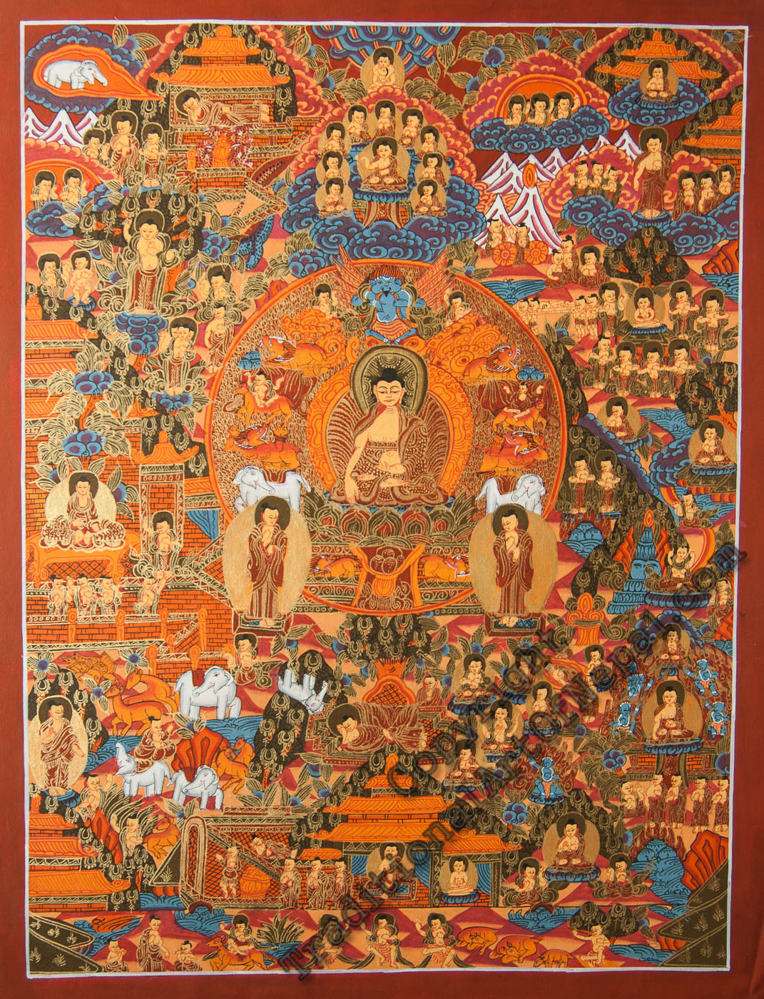 Life of Shakyamuni Buddha : Buddhist History 101 - Ep. 62 of the Bob Thurman Podcast image by Thangka Painting School, Used with permission, All Rights Reserved via www.traditionalartofnepal.com.