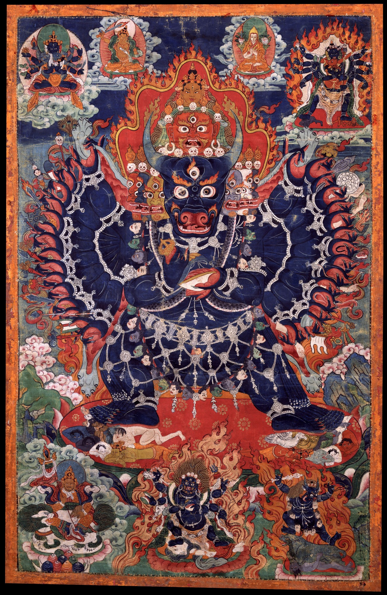 Eight Stages of Dissolution into Death - Ep. 63 of the Bob Thurman Podcast Yamantanka image via www.himalayanart.org.