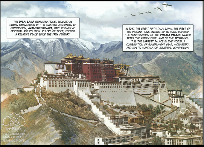 Dalai Lama Man of Peace Graphic Novel