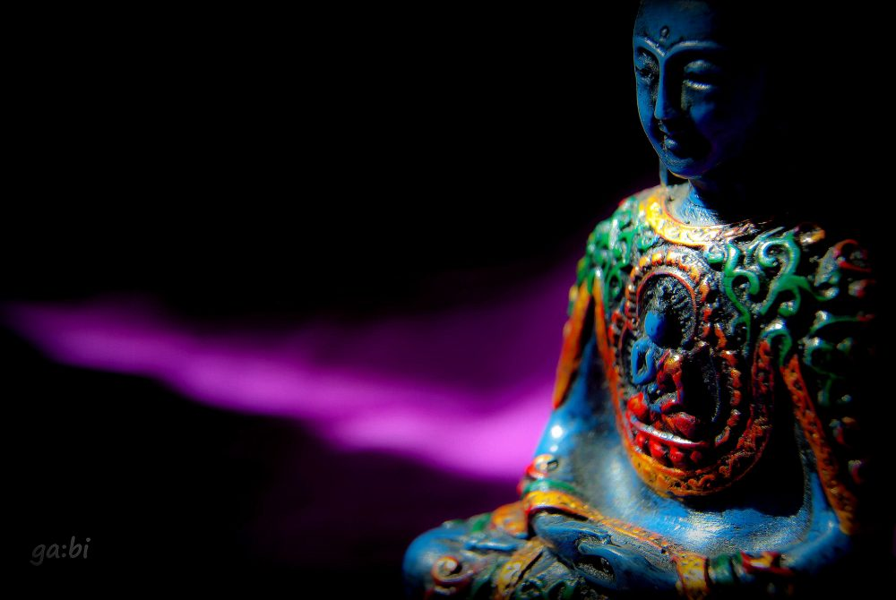 Tibetan Medicine Buddha Statue with Robert AF Thurman