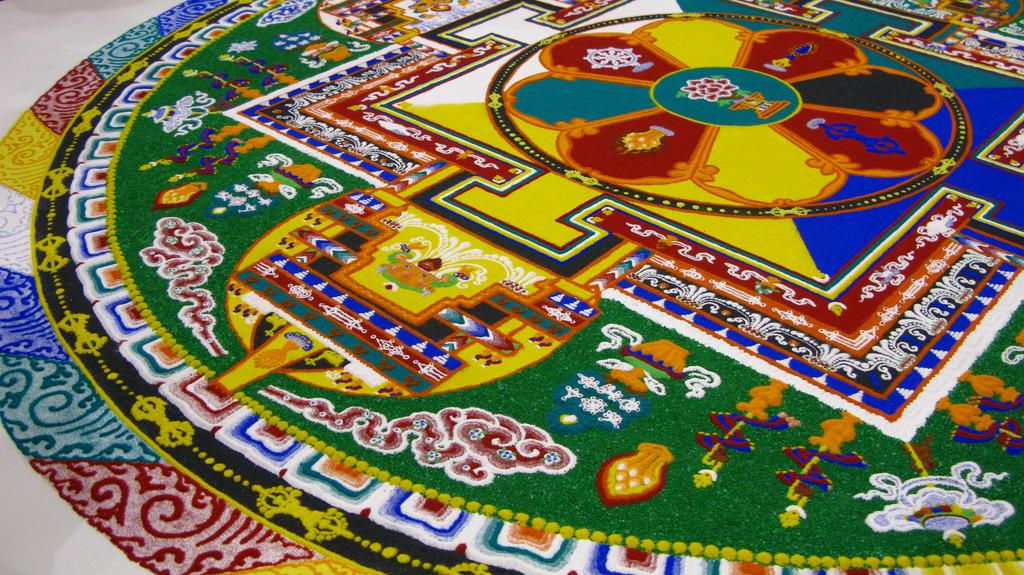 Sand Mandala Paul Benjamin Tibet House US Menla Dalai Lama
