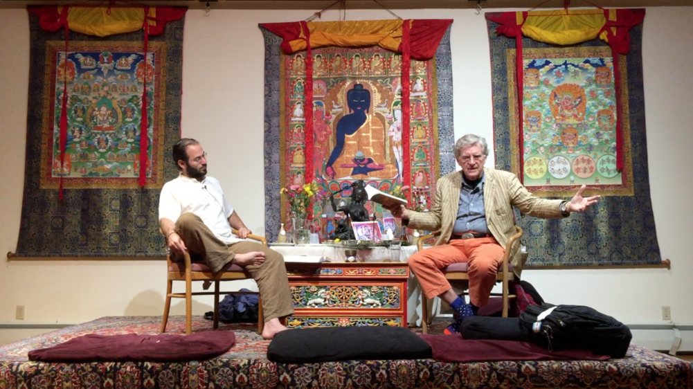 Buddha's Inner and Healing Sciences Photo with Eric Rosenbush and Robert A.F. Thurman