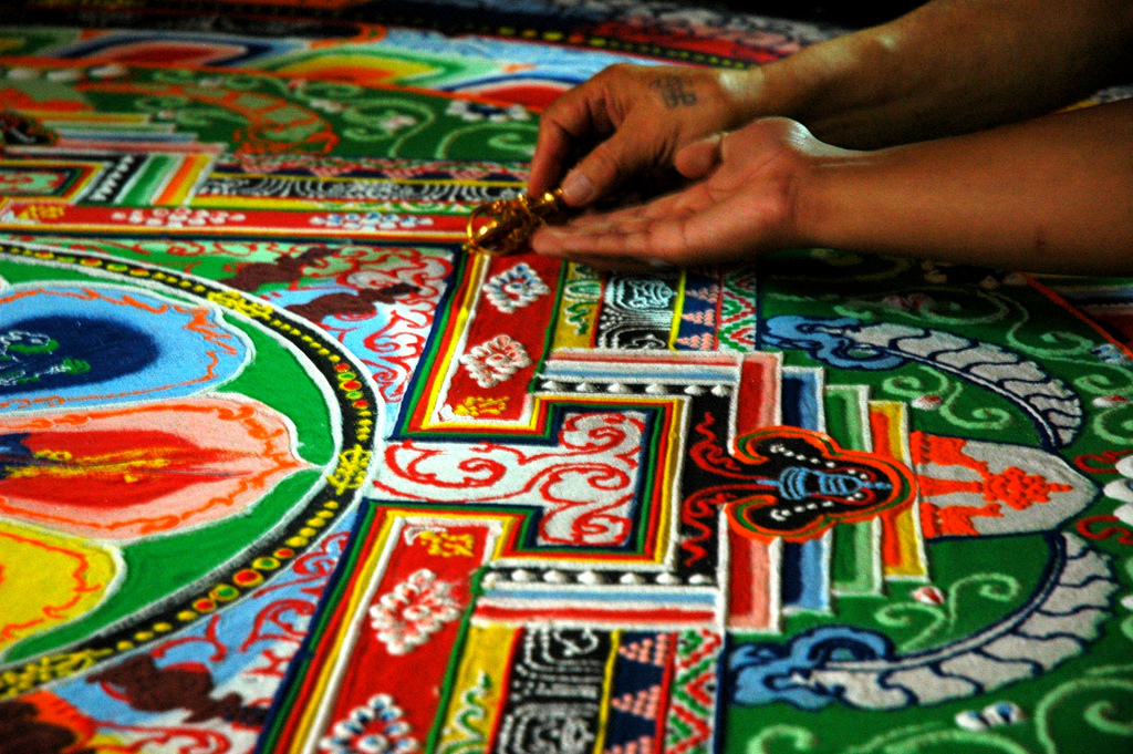 Force For Good: Vimalakīrti's Verses On Buddhaverses + Bodhisatvas - Ep. 182 Bob Thurman Podcast Photo of Sand Mandala by Wonderlane