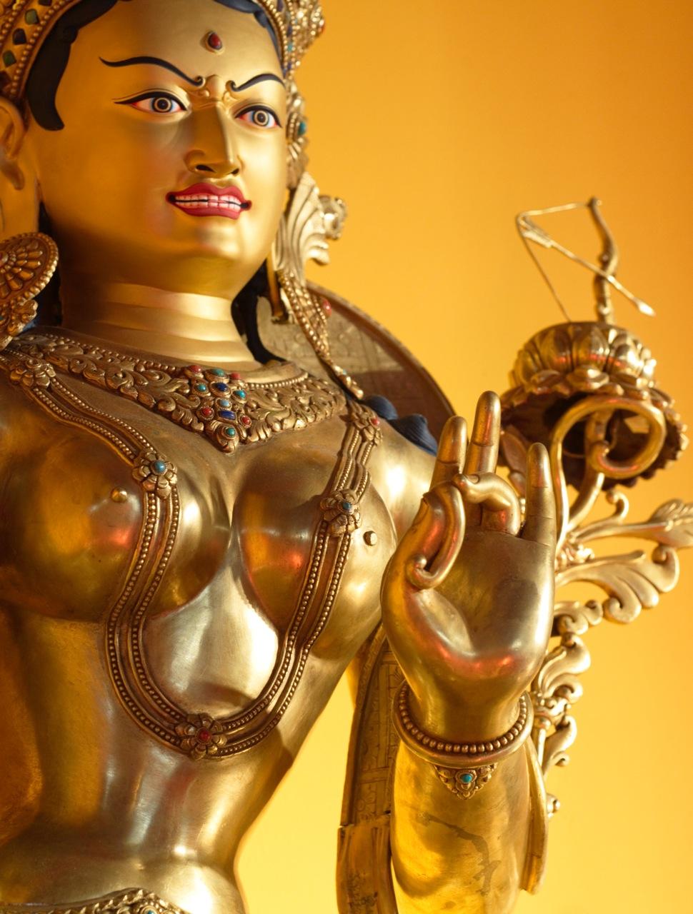 Tara, Yoga & Female Buddhas - Ep. 195 of the Bob Thurman Podcast Tara statue photo via www.luminousbuddha.com.