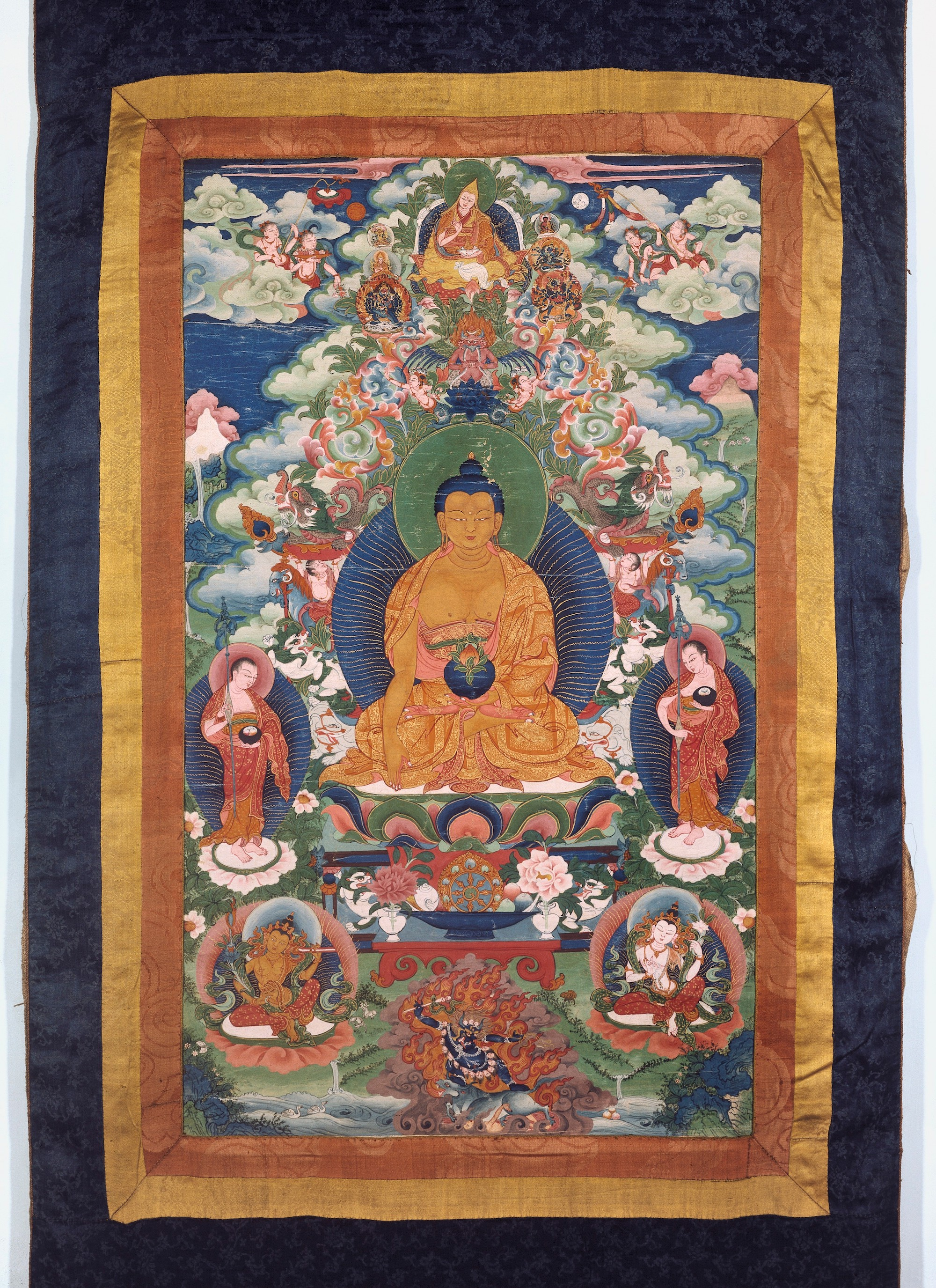 Buddhist Sciences Vajrayana Podcast Bonus RAFT Archives Image of Medicine Buddha and Tsongkhapa via www.welcomecollection.org