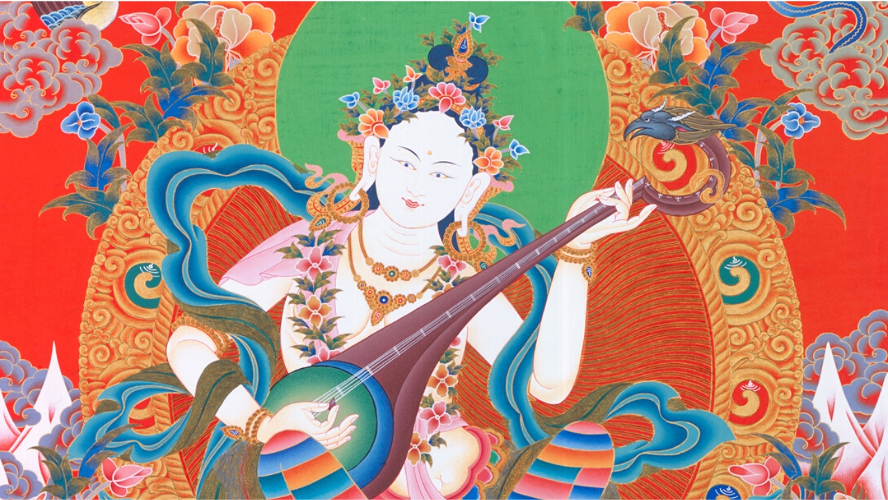 Hindu and Buddhist Paths : Force For Good Bob Thurman Podcast Bonus Sarasvati with Krishna Das Tibet House US
