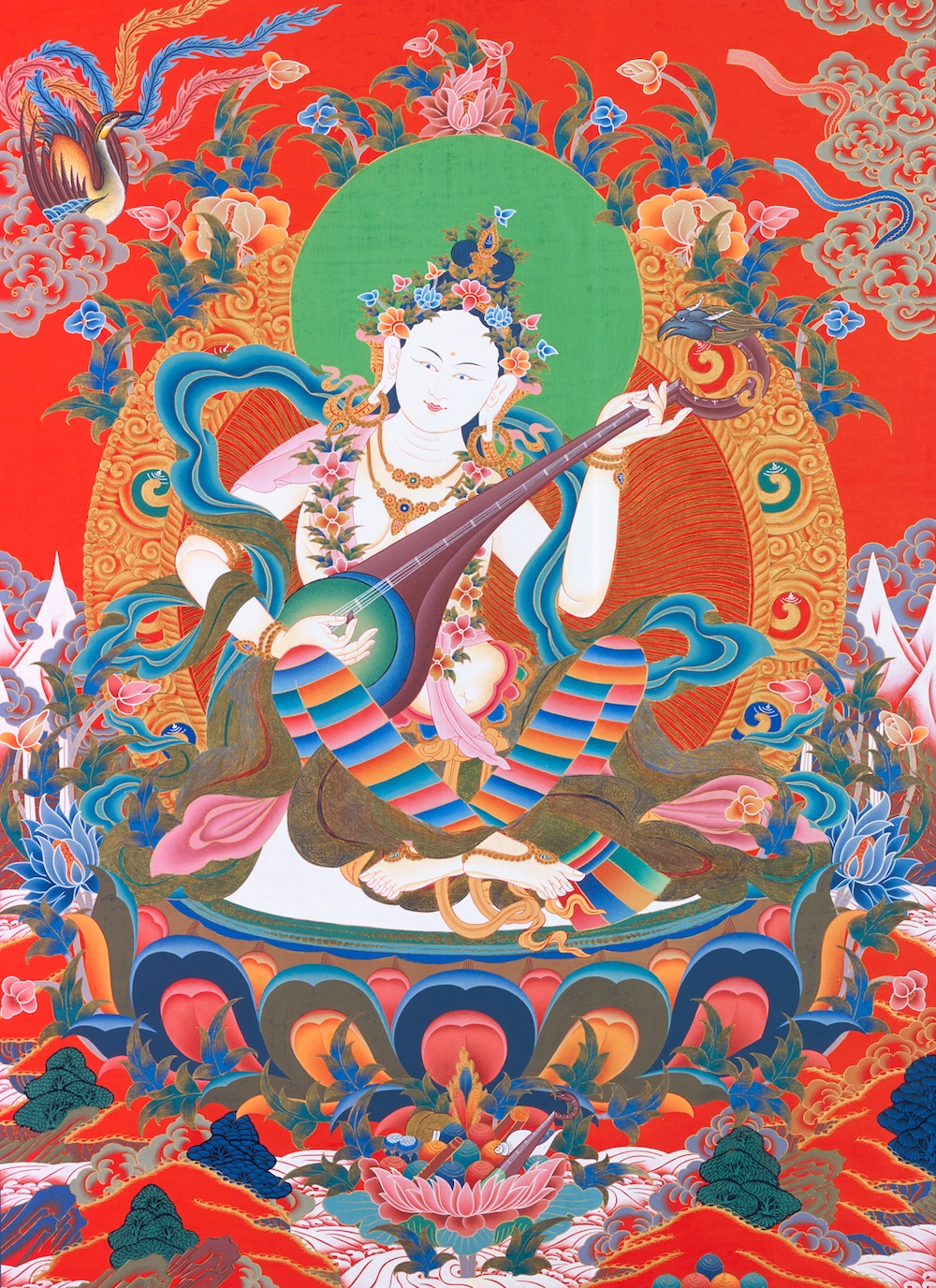 Hindu and Buddhist Paths : Force For Good Bob Thurman Podcast Bonus Sarasvati with Krishna Das Tibet House US