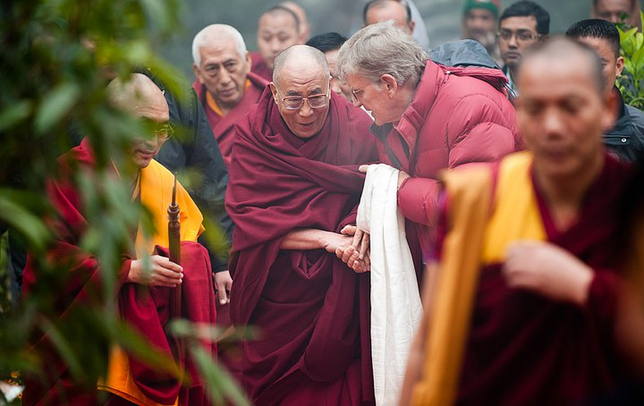 Preserving Culture with Tibet House US Podcast Bonus of the Bob Thurman Podcast Photo of Robert Thurman and Dalai Lama