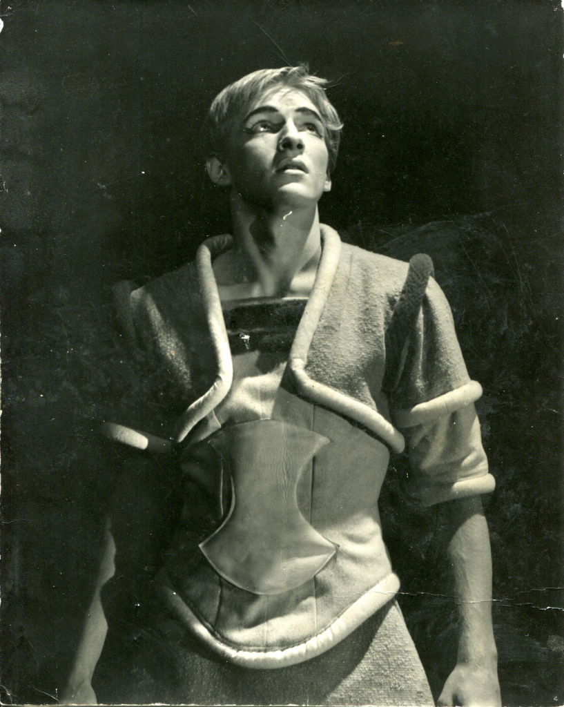 Bob as Troilus, Harvard Loeb Theater in 1959