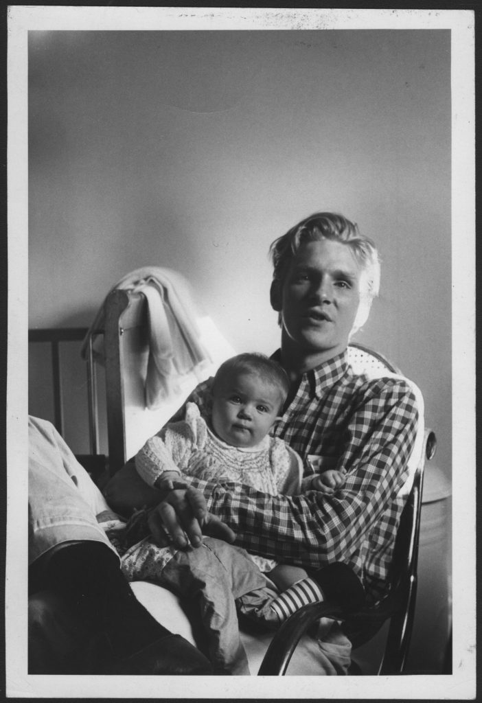 With his first daughter Taya Thurman in 1959