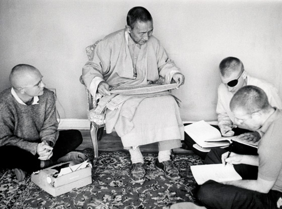 As a student of Geshe Ngawang Wangyal  with Jeffry Hopkins, and Christopher George in 1960