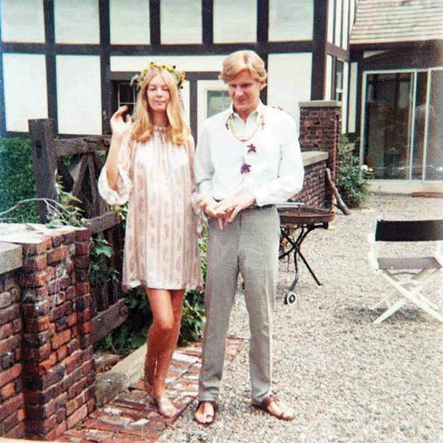 Bob and Nena von Schlebrügge at their wedding in 1967 in Staatsburg, NY