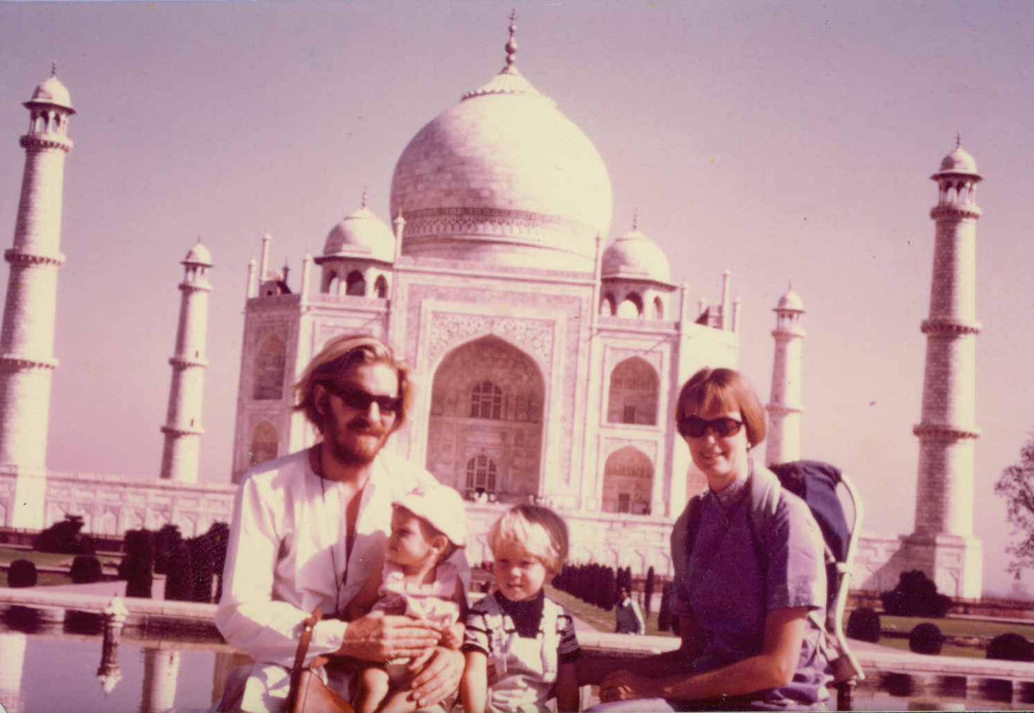 First family trip to India in 1971 with their children Uma and Ganden