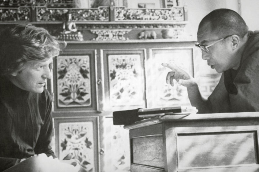 Bob and H.H. the Dalai Lama in ________. Lifetime friends and allies, Bob was twenty-three and the Dalai Lama was twenty-nine when they first met.