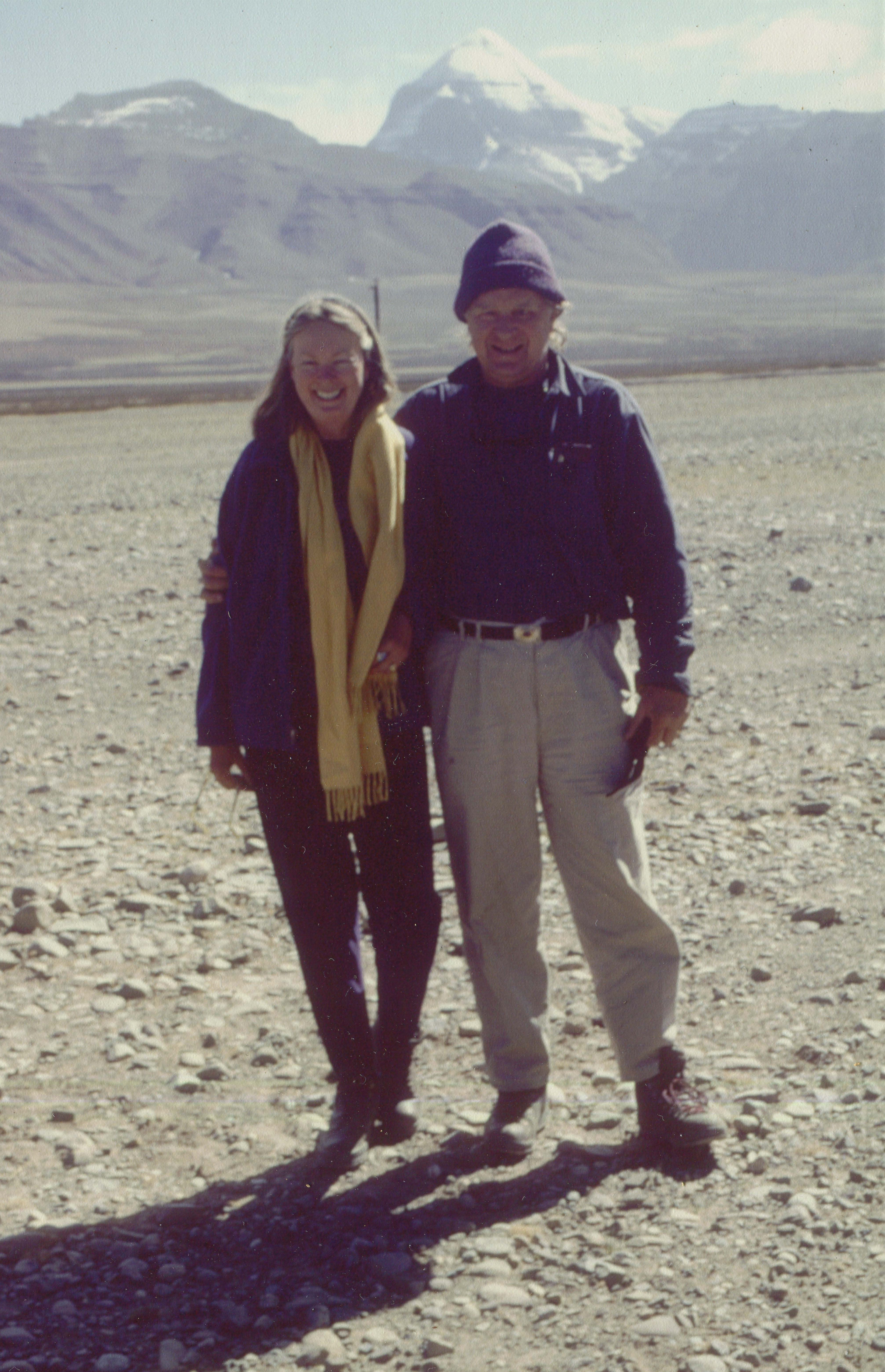 Nena and Bob circumambulating Mount Kailash in Tibet in 1996