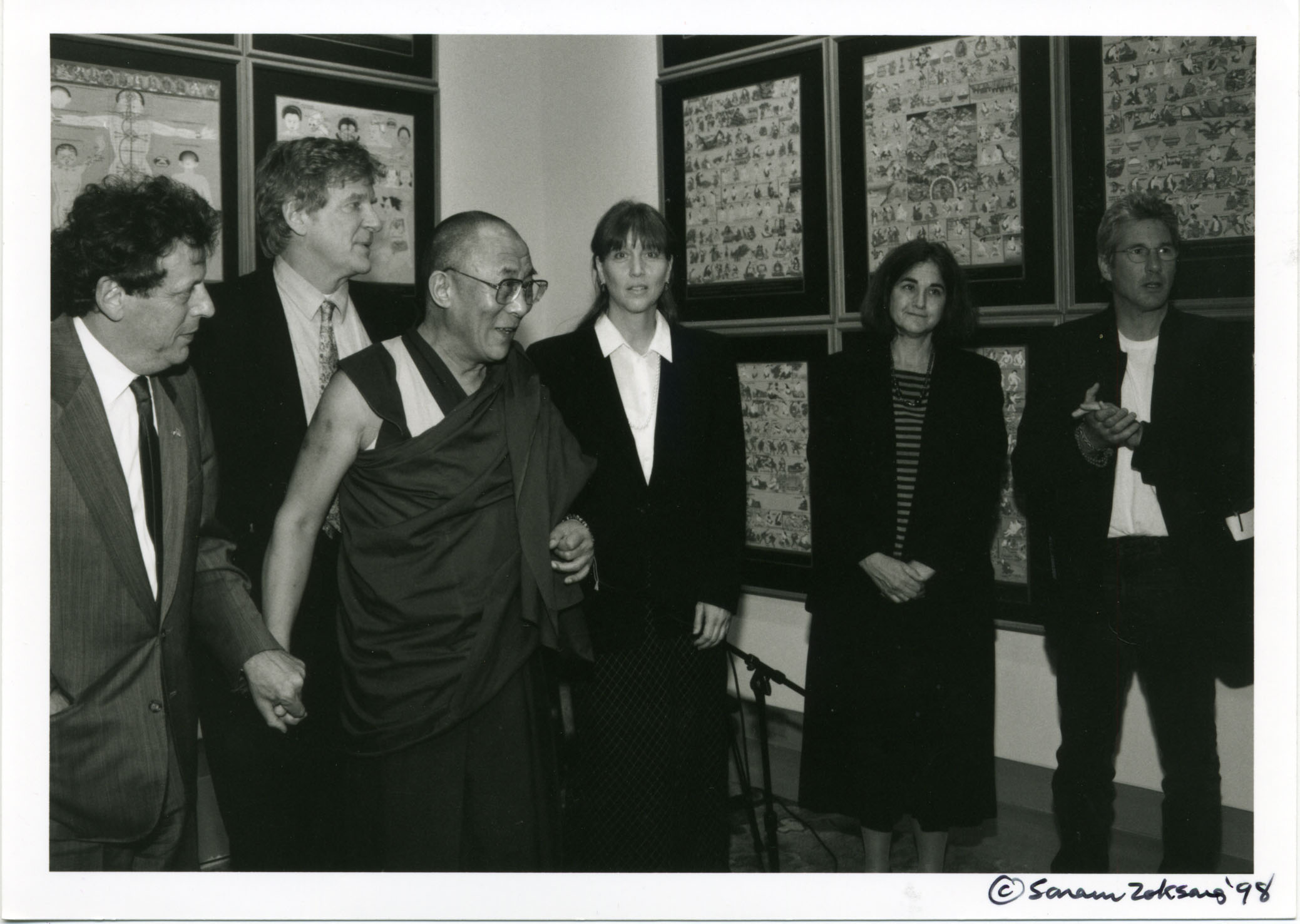 With Philip Glass, H.H. the Dalai Lama, Elizabeth Avedon and Richard Gere at the inauguration of the Tibet House US in NYC in 1998
