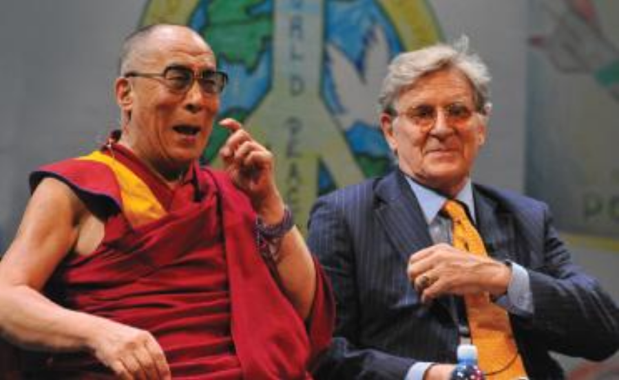 H.H. the Dalai Lama and Bob at the Tibet House US Peace Conference in New Jersey in 2011