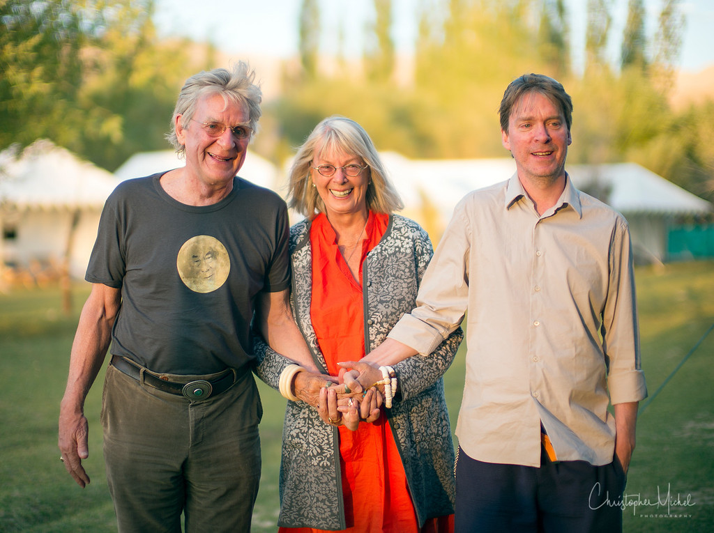 Bob, Nena and Ganden Thurman, their first son and director of Tibet House US during their trip to Ladakh in 2013